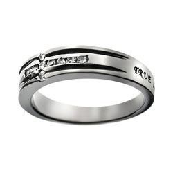 True Love Waits Diamond Cross Ring - ST-CZC TLW