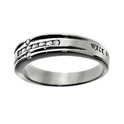 Walk By Faith Diamond Cross Ring