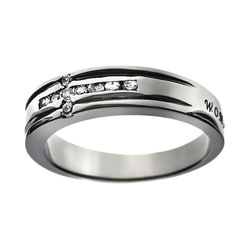 Woman of God Diamond Cross Ring
