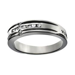 Woman of God Diamond Cross Ring