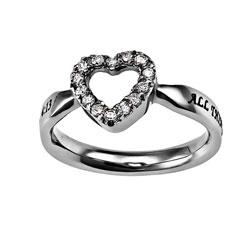 Christ My Strength Open Heart Ring