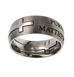 Silver Purity Double Cross Ring