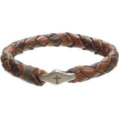Cross Bead Leather Bracelet - FJ-E3