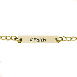 Gold #Faith Necklace