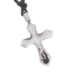 Flame Cross Necklace