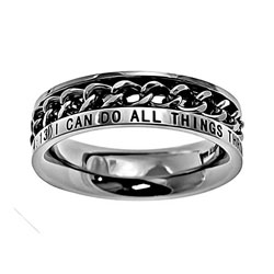 Christ My Strength Chain Ring