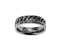 No Weapon Chain Ring