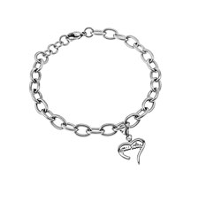 Purity Handwriting Heart Bracelet