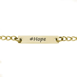 Gold #Hope Necklace