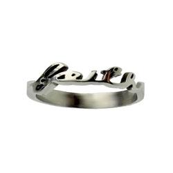 Faith Cursive Ring