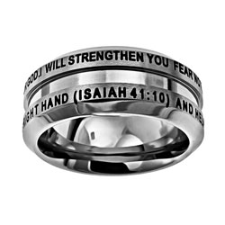 Fear Not Industrial Band Ring