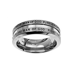 Man of God Industrial Band Ring