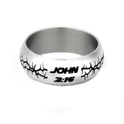 John 3:16 Crown of Thorns Ring