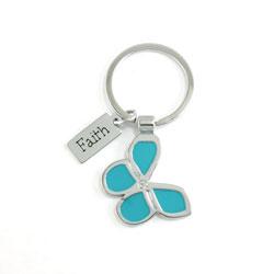 Faith Blue Butterfly Keyring - CAG-KME001