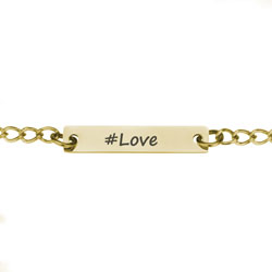 Gold #Love Necklace