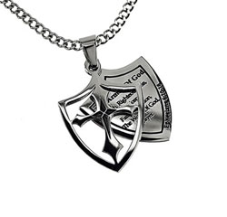 Armor of God 2 Piece Shield Necklace - ST-M2SC-AOG-LISTED