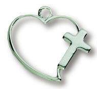 Cross Open Heart Necklace