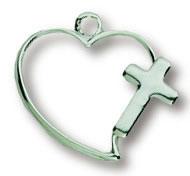 Cross Open Heart Necklace