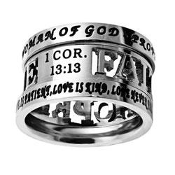 Faith Hope Love Tiara Ring