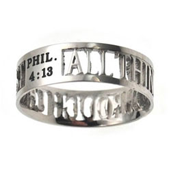 Through Christ Silhouette Ring