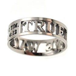 True Love Waits Silhouette Ring - ST-MINI SIL TLW