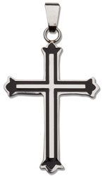 Black Outline Cross Necklace