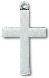 Pewter Simple Cross Necklace