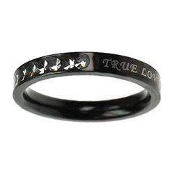 True Love Waits Ebony Princess Cut Ring