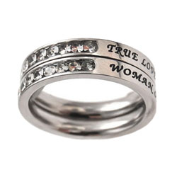 True Love Waits Princess Stack Ring