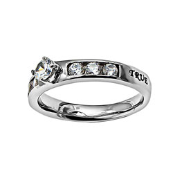 True Love Waits Princess Solitaire Ring - ST-PS TLW