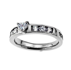 Trust Princess Solitaire Ring