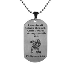Kneeling Soldier Dog Tag