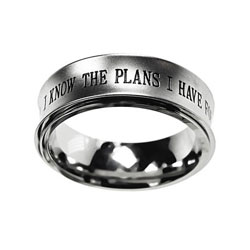 Silver Jeremiah 29:11 Spinner Ring