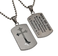 Man of God Shield Cross Necklace
