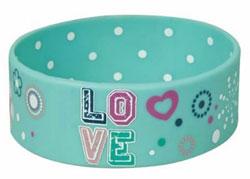 Blue Love Silicone Bracelet