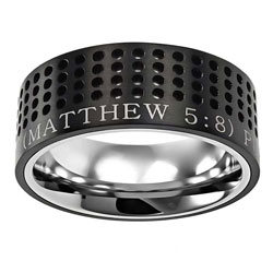 Purity Black Sport Ring - ST-ST-BLK-PUR