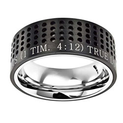 True Love Waits Black Sport Ring - ST-ST-BLK-TLW