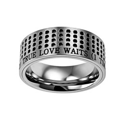 True Love Waits Silver Sport Ring