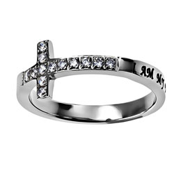 My Beloved Sideways Cross Ring