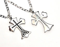 One Trinity Cross Necklace