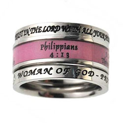 Through Christ Tiara Ring