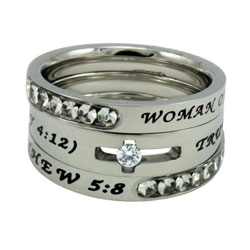 True Love Waits Solitaire Tiara Ring