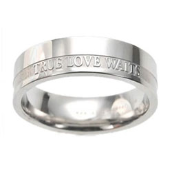 Womens True Love Waits Ring Band