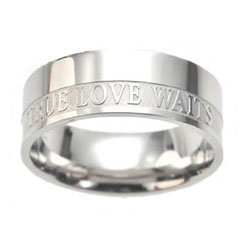 Mens True Love Waits Ring Band
