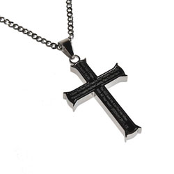I Know Black Iron Cross Necklace