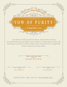 Blue purity certificate