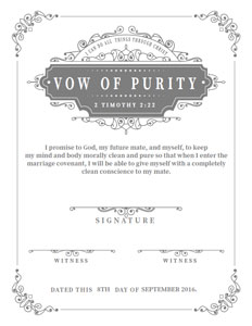 Blue purity certificate