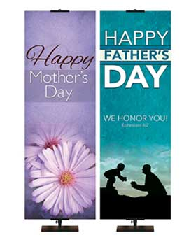 Mother's and Father's Day Banners