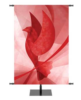 Liturgical Banners for Churches Symbol Dove for Pentecost and more