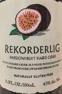 Passionfruit Hard Cider